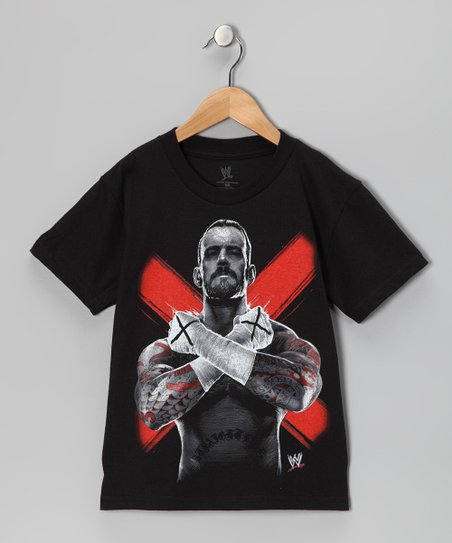Black CM Punk Tee - Kids