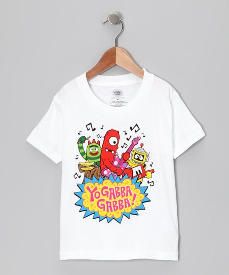 White 'Yo Gabba Gabba!' Rock Band Tee - Toddler