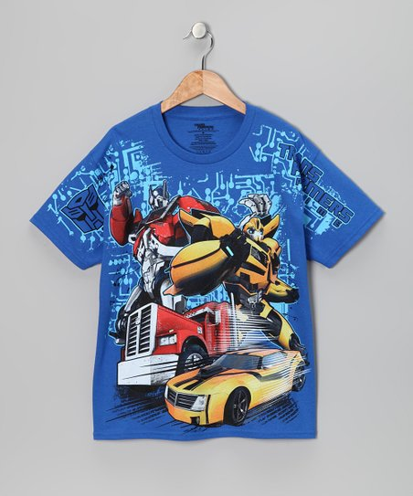 Royal Transformers Optimus & Bumble Bee Tee - Kids