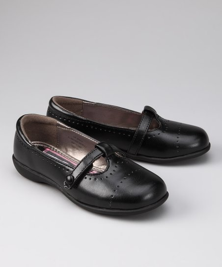 Black Brielle T-Strap Shoe