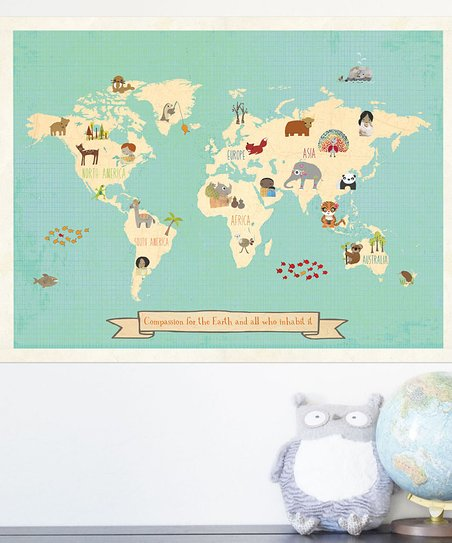 Compassion World Map Print
