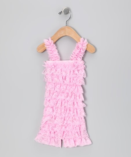 Light Pink Lace Ruffle Romper - Infant