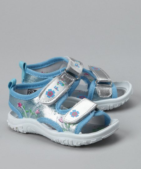 Blue & Silver Flower Sandal