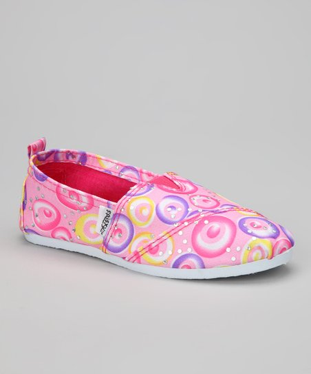 Pink Circle Slip-On Sneaker