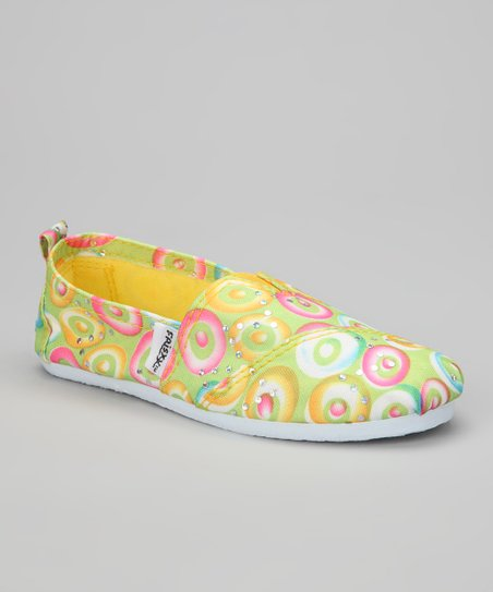 Yellow Circle Slip-On Sneaker