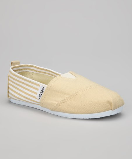 Khaki Stripe Slip-On Shoe
