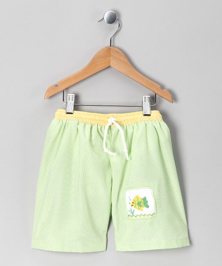 Green Fish Swim Shorts - Infant