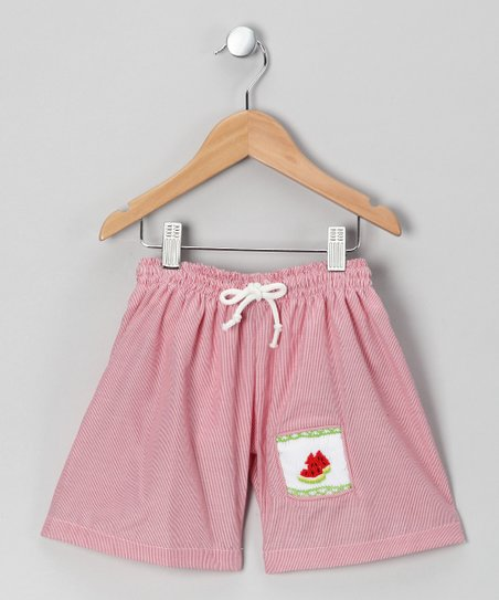 Red Watermelon Swim Shorts - Infant & Toddler
