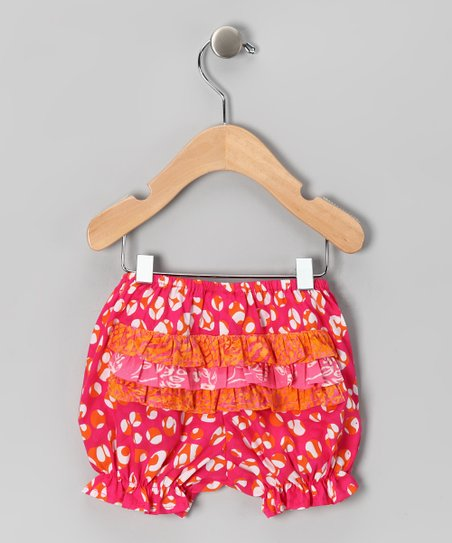 Pink Jungle Ruffle Bloomers - Infant
