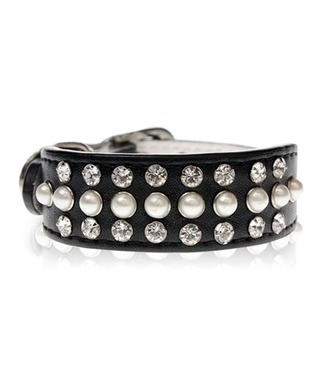 Black Swarovski Dog Collar