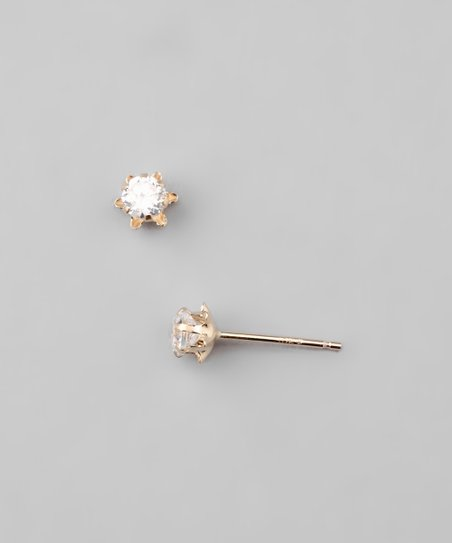 Gold Buttercup Stud Earrings