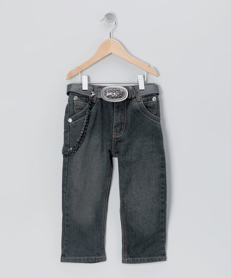 Black Light Wash Straight-Leg Jeans - Toddler