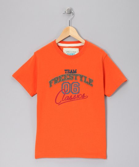 Orange &#039;Freestyle&#039; Twill Tee - Toddler