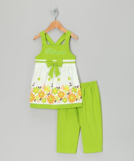 Lime Tunic & Capri Leggings - Infant, Toddler & Girls
