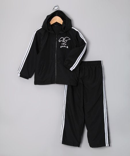 Black Microfiber Hoodie &amp; Sweatpants - Infant, Toddler &amp; Boys