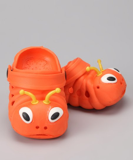 Orange &amp; Yellow Critter Clog