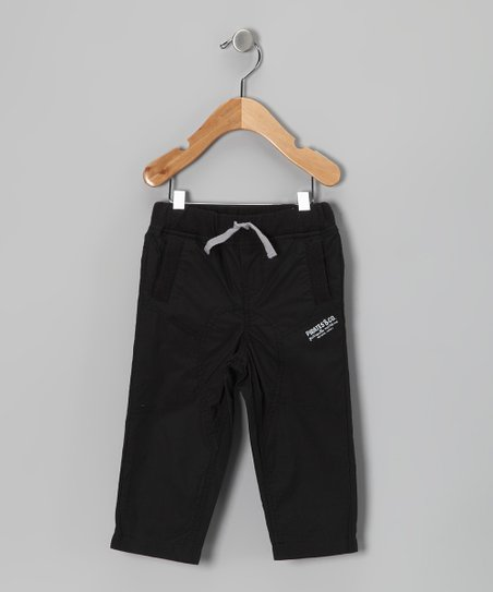 Black Straight-Leg Pants - Infant &amp; Toddler