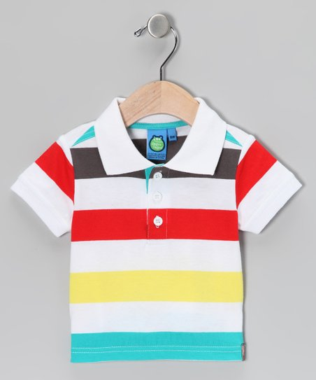 White Stripe Polo - Infant &amp; Toddler