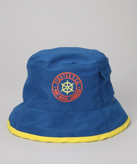 Blue 'Pirates & Co.' Reversible Sunhat - Toddler