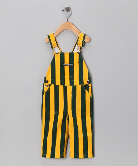 Green Bay Packers Colors Overalls - Kids