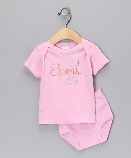 Light Pink 'Spoil Me' Tee & Diaper Cover - Infant