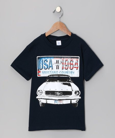 Navy 'Mustang Country' Tee - Toddler & Boys