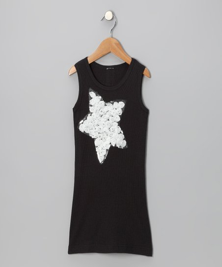 Black Star Dress - Toddler & Girls
