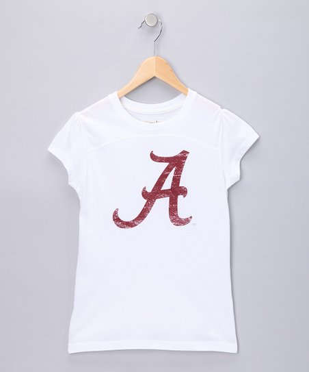 White Alabama Olivia Tee - Girls