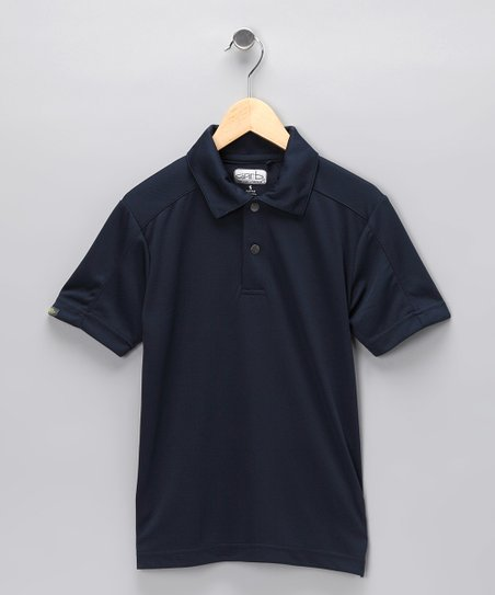 Navy Colby Polo - Boys