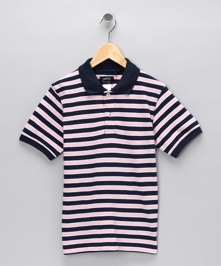 Pink Stripe Chip Polo - Toddler & Boys