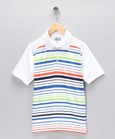 White Stripe Elliot Polo - Toddler