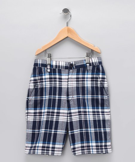 Blue Plaid Liam Shorts - Infant, Toddler &amp; Boys