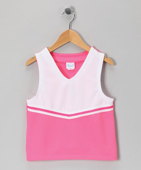 Hot Pink Stripe Uniform Tank - Girls