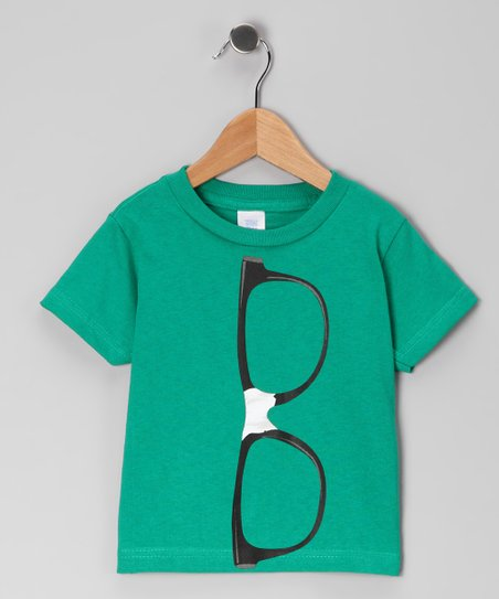 Kelly Green Nerd Glasses Tee - Infant, Toddler & Boys