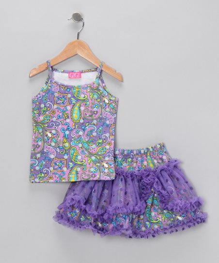 Purple Paisley Tank & Skirt - Infant, Toddler & Girls