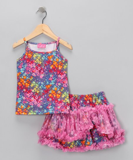 Pink Floral Tank & Skirt - Infant, Toddler & Girls