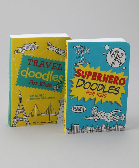 Travel Doodles for Kids & Superhero Doodles for Kids Paperbacks