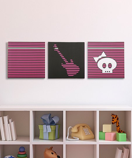 Color Pop Punk Rock Princess Canvas - Set of Three