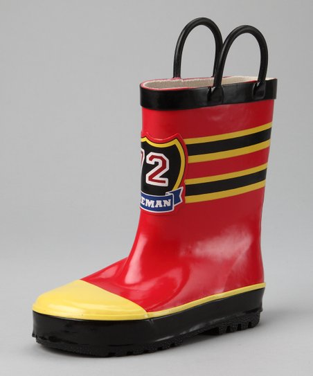 Gina Group Red Fireman Rain Boot