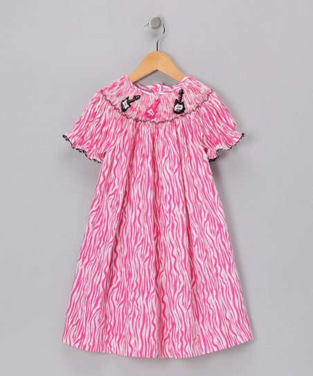 Ginger Hares Pink Guitar Bishop Dress - Infant, Toddler & Girls