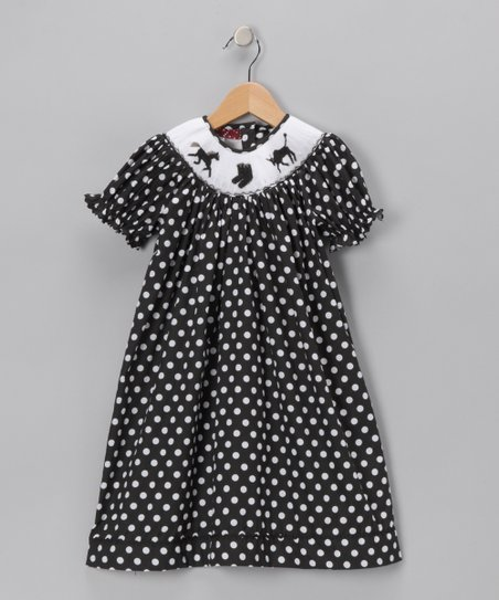 Ginger Hares Black Horse Bishop Dress - Infant, Toddler & Girls
