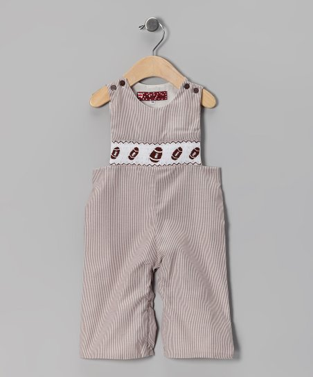 Brown Football Overalls - Infant & Toddler