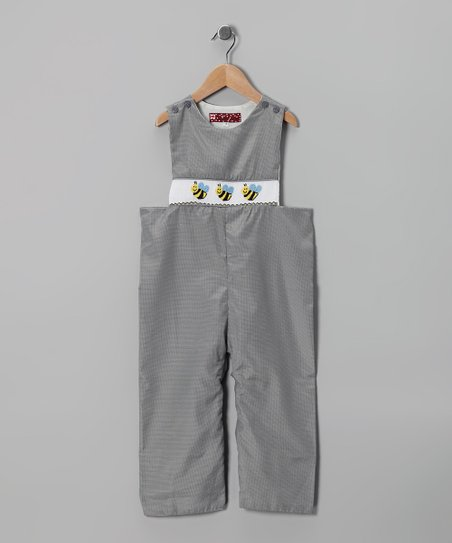 Black Bee Overalls - Infant & Toddler