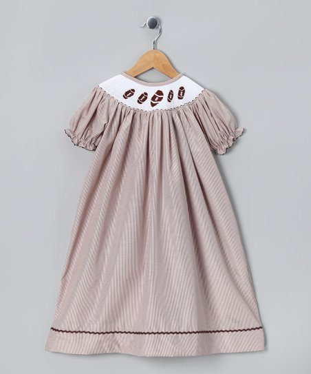 Brown Football Bishop Dress - Infant, Toddler & Girls
