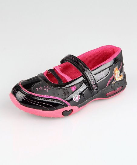 Black & Hot Pink K6208 Mary Jane