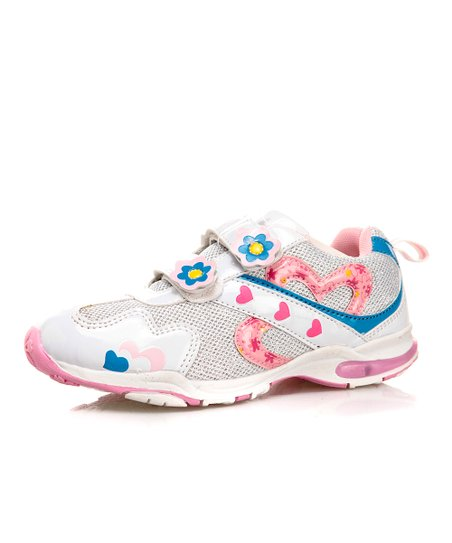 White & Pink Sneaker - Toddler & Kids