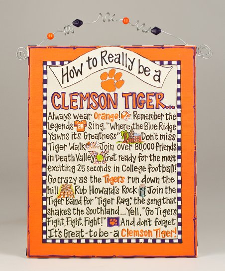 Clemson 'How To' Beaded Canvas