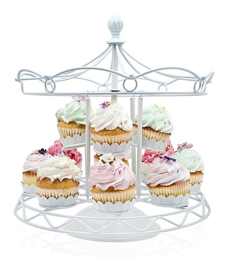 White Carousel 12-Cupcake Holder