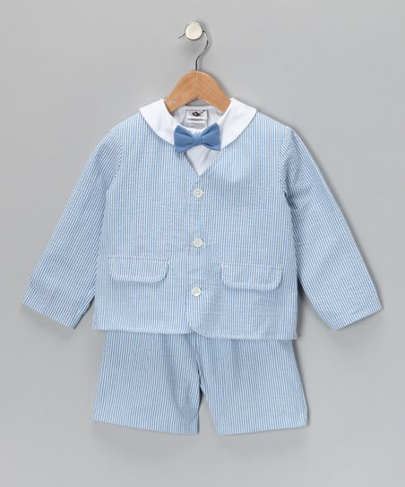 Blue Stripe Suit Set - Toddler