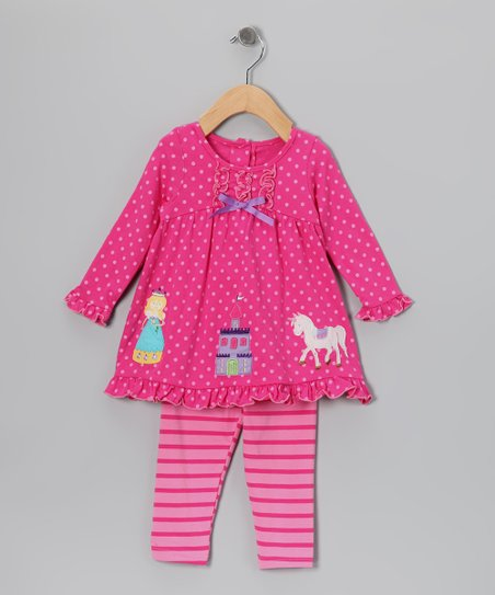 Pink Princess Dot Tunic & Leggings - Infant, Toddler & Girls